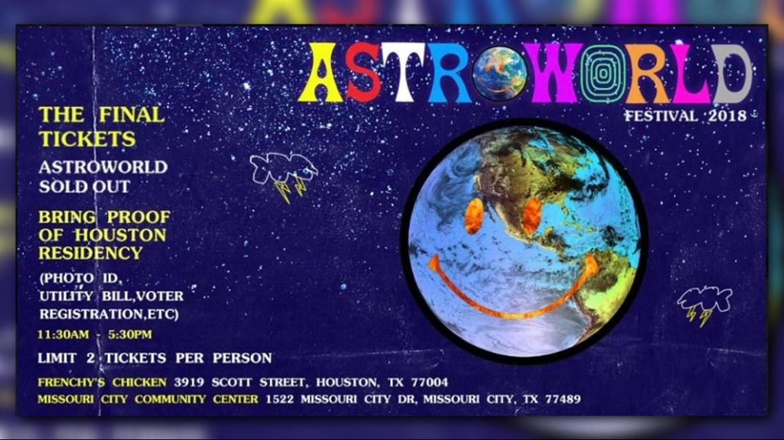Rapper Travis Scott Left Astroworld Festival Tickets At