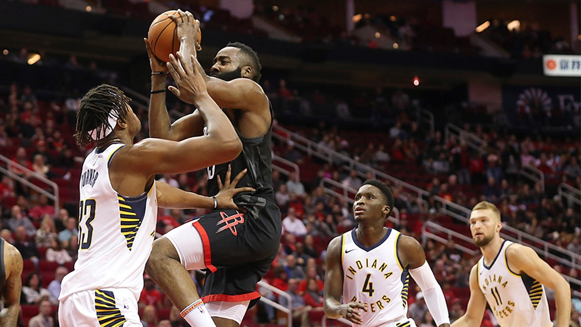 Harden's 40 lifts Rockets to 1st home win 115-103 over Indy