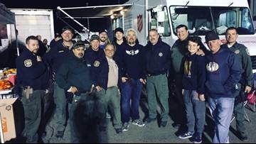 Guy Fieri helps cook, serve dinner for California wildfire responders