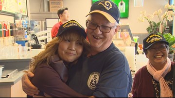 Navy heroes reunited with family they rescued at sea 37 years ago