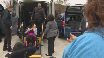 Houston Children's Charity gives families wheelchair-accessible vans