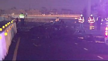 Suspect killed in fiery wrong-way crash during chase on I-10 East