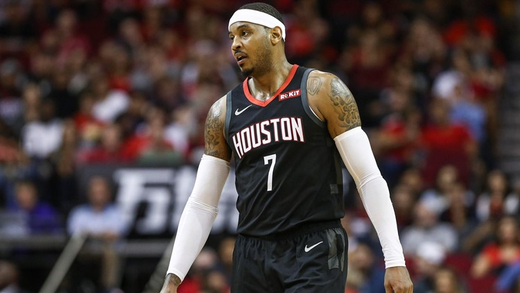 Rockets parting ways with Carmelo Anthony