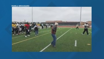 Grandma's birthday wish to score a touchdown granted by Cy Falls football team