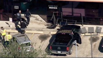 Vehicle crashes into Braeswood dry cleaners