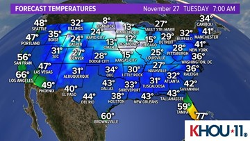 Get your fall sweaters ready for chilly weather. Cold front on the way!