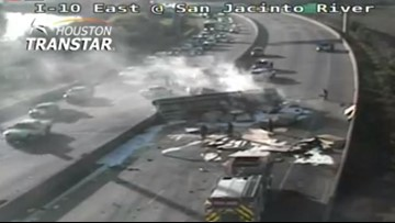 I-10 reopens at San Jacinto River after overturned 18-wheeler cleared