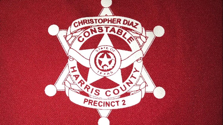 A t-shirt intended for Hurricane Harvey victims features Harris County Precinct 2 Constable Christopher Diaz's name and badge.
