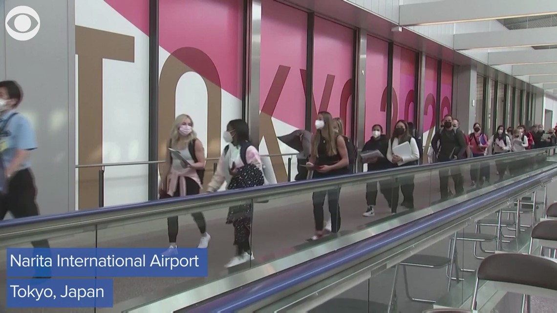 Team USA Gymnasts arrive in Tokyo ahead of Olympics