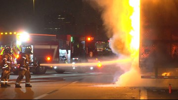 Extra hot: 18-wheeler carrying jalapeños catches fire on US 59