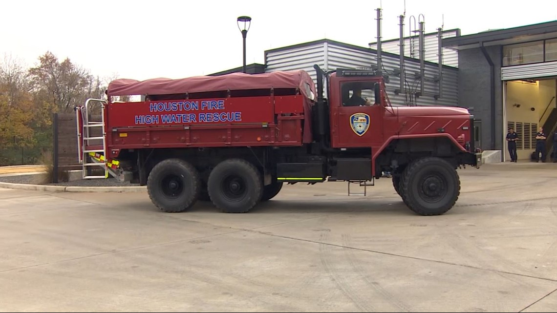 hfd high water vehicles stand ready ahead of strong storms