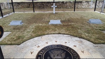 President Bush's burial site opens to the public Saturday