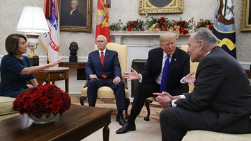 Trump meeting with Pelosi, Schumer gets heated over border wall