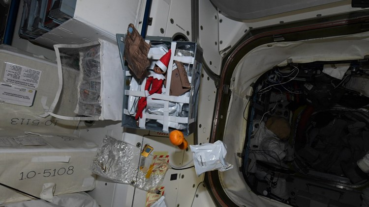 Elf on the Shelf stows away on International Space Station