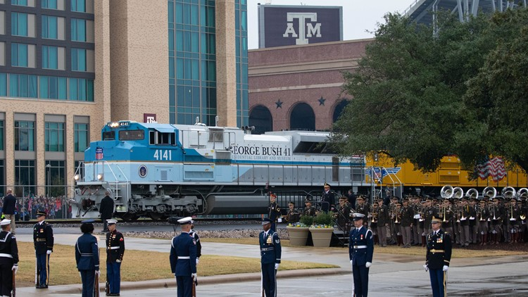 VERIFY: 4141 George Bush Locomotive is stationed in Omaha, for now