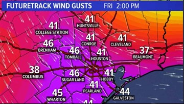 What to expect and when as strong winds blow through Houston