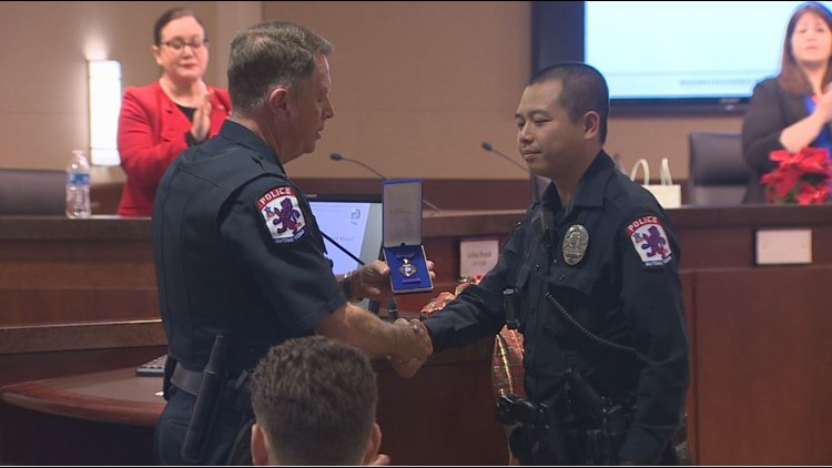 Baytown officer honored with Police Purple Heart