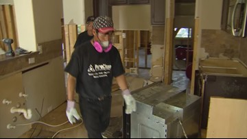 Harvey One Year Later: Inside a flooded home as crews rip out debris