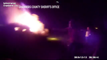 VIDEO: Chambers County deputies pull man from burning car minutes before it explodes