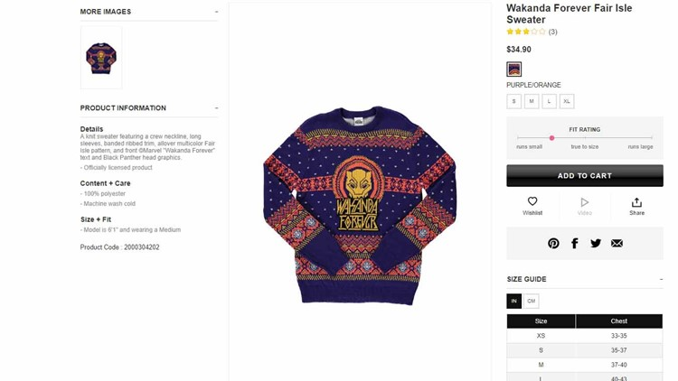 a5ddaee66 Forever 21 deletes photos of white model in 'Wakanda Forever' sweater after  backlash