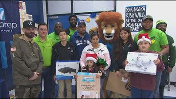 Rapper Paul Wall surprises Harvey family with Christmas gifts