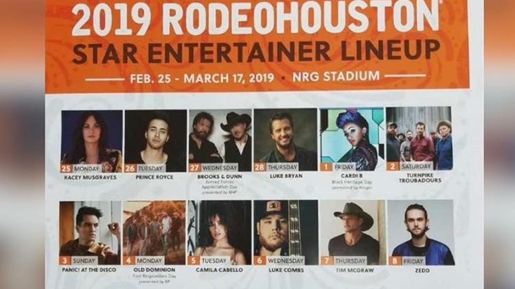 2019 Rodeohouston Concert Lineup Khou Com