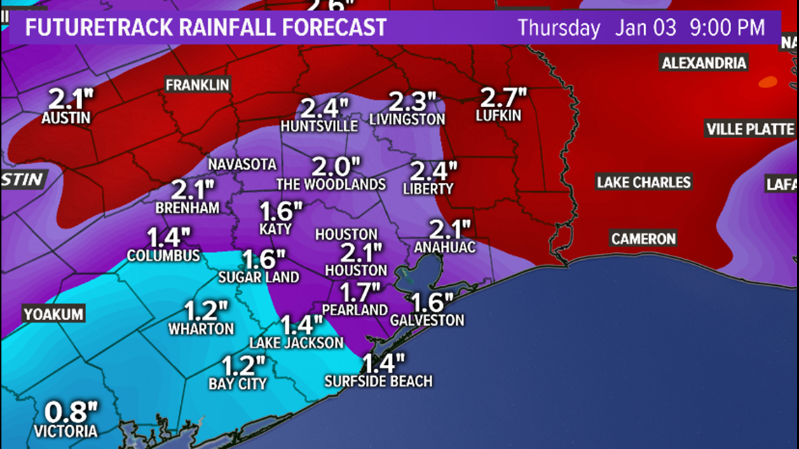 houston weather  heavy rain likely wednesday and thursday