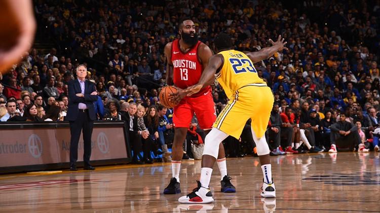 1dd970138eff James Harden rallies Rockets in OT to beat Warriors 135-134