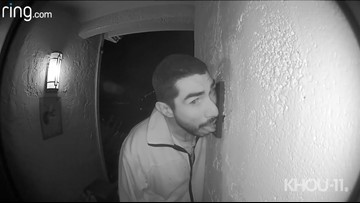 Man caught on video licking doorbell over and over for 3 hours