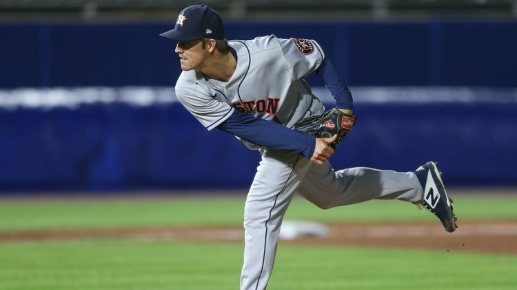 Greinke gets first complete game since 2017, Correa 2 HRs, Astros rout Blue Jays