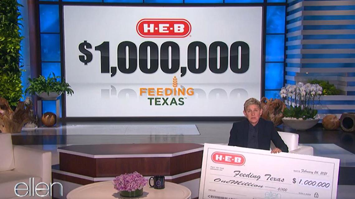 HEB donates $1 million to Feeding Texas on 'The Ellen Show'
