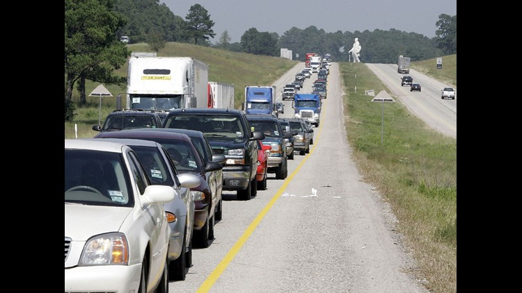 Traffic came to a standstill on I-45 when thousands of people tried to flee from Hurricane Rita.