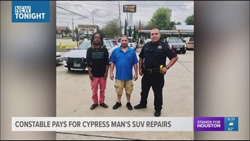 Constable pays for Cypress man's SUV repairs