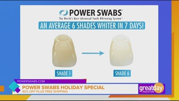Power Swabs brightens your smile this holiday season