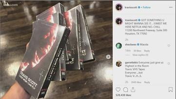Travis Scott surprises fans with VHS pop-up event at Movie Exchange in northwest Houston