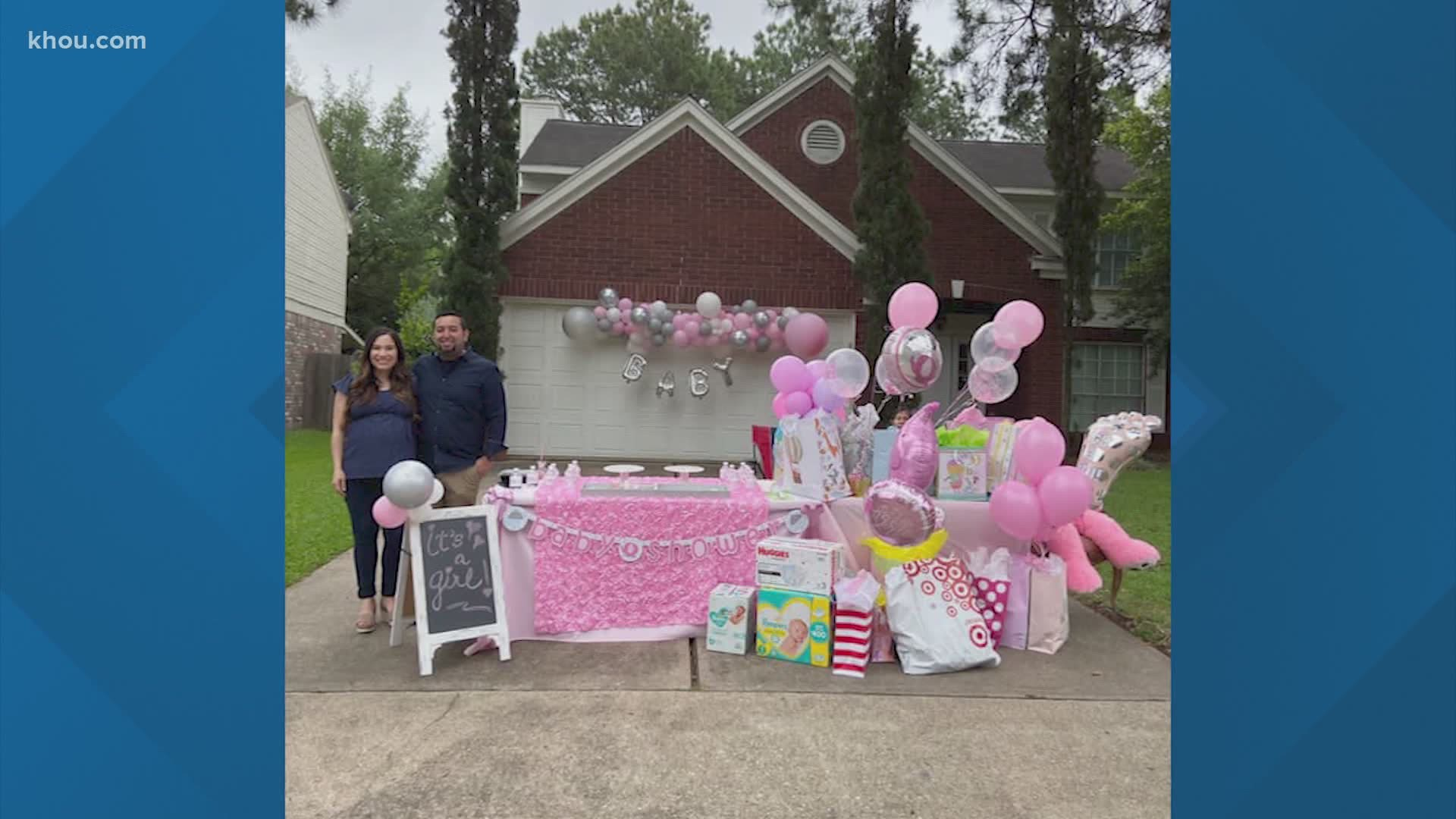 Houston Couple Welcomes First Child With Drive Thru Baby Shower Khou Com
