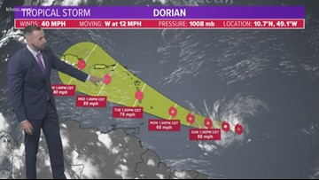 Tracking Tropical Storm Dorian