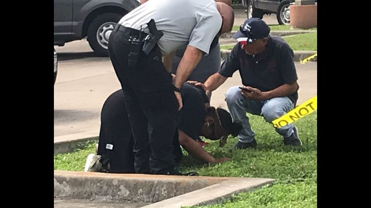 """Maleah's mother is consoled by detectives after she shows up at scene where her husband's missing cars was found. """"Where is my baby?"""", she cried."""