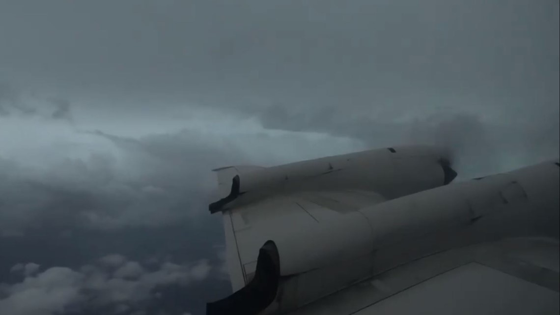 Hurricane Hunters fly into the storm to learn how strong it is