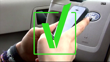VERIFY: Are local officials enforcing texting while driving ban?