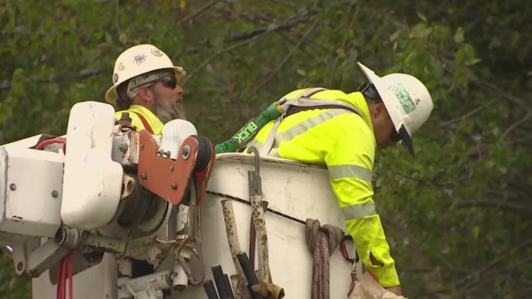 Around 70,000 CenterPoint customers still without power Wednesday as crews work non-stop to restore it