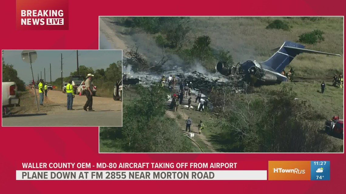 KHOU 11 reporter David Gonzalez reports on plane that crashed in Waller County