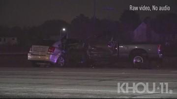Raw: Investigation into fatal suspected DWI crash on Galveston Road
