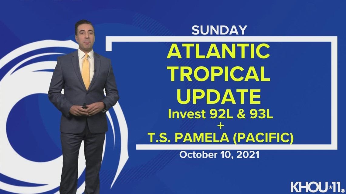 Tropical update: Invests 92L, 93L and Tropical Storm Pamela (Pacific)