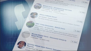 Facebook groups drive discussion about Maleah Davis' disappearance