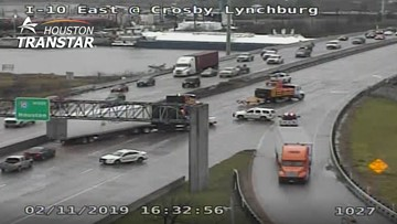 Expect delays on I-10 East westbound as bridge repair continues at San Jacinto River