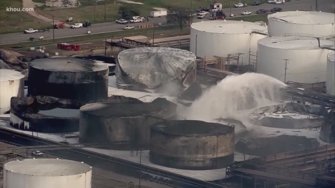 last of itc tanks containing pygas contained  ship channel