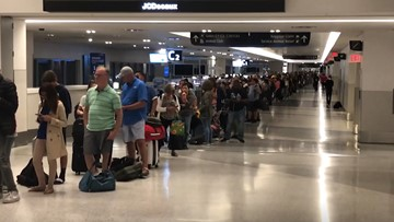 Storms leave hundreds of travelers stranded at Bush Airport overnight