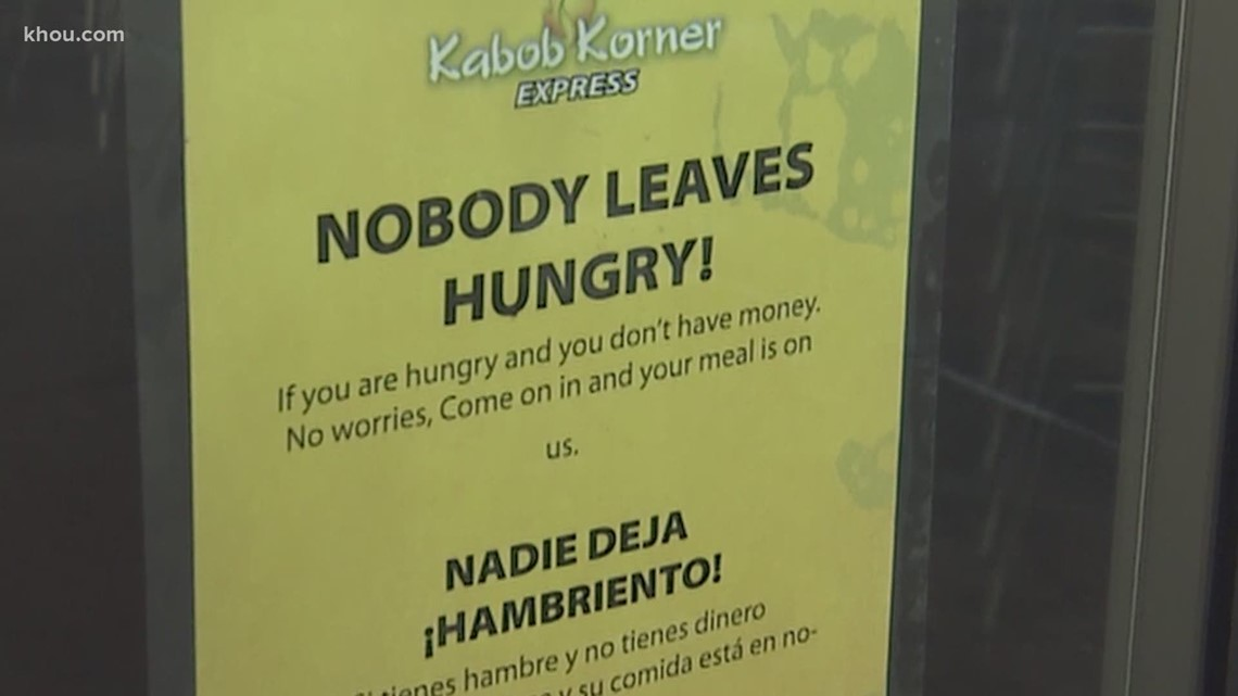 Houston restaurant Kabob Korner offers free meal to anyone who can't afford one