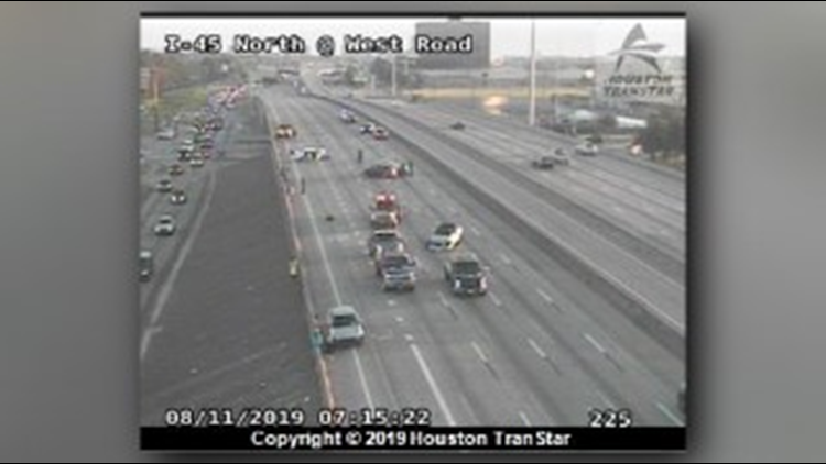 All mainlanes on I-45N southbound reopened after fatal 3-vehicle